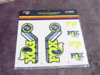 FOX FORK AND SHOCK DECAL KIT 40years Yellow 新品未使用