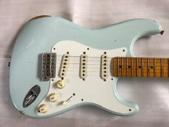 Fender USA Custom Shop LIMITED EDITION 1956 STRATOCASTER Heavy Relic Faded Sonic Blue #6 of10 by C.W.Fleming