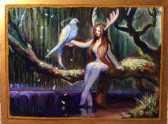 """Thumbnail of """"Forest princess 油絵 絵画 原画 手描き 油彩画"""""""